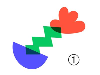 Random shape 010F art vector red green blue sketch overlay shape color ui adobe illustrator illustration