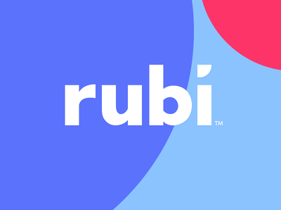 """Rubi"" Logo Concept identity circle sign rubi option variant concept logotype"