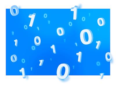 Pseudo−3D Digits adobe illustrator bevel extrude blue number digit 3d