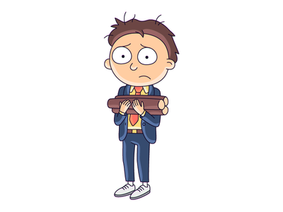 Morty rick and morty character illustration morty