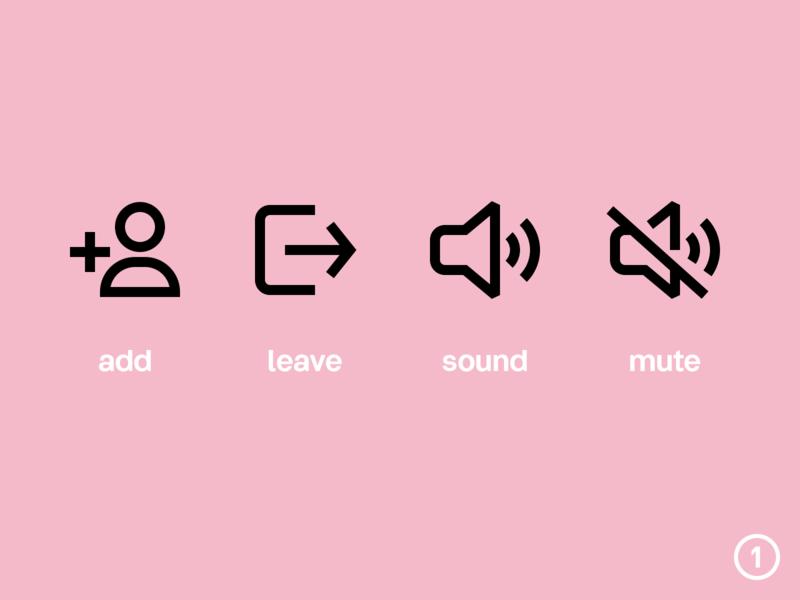 Easy Symbols 01 set adobe illustrator vector leave mute sound add interface ui icon symbols