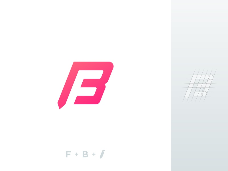 Personal Logo Update smart personal construction grid b f bf fb pencil letter gradient simple minimal modern icon branding brand mark design logo