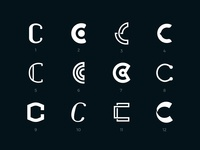 Letter C logo exploration set