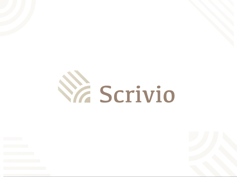 Scrivio Logo Concept draw write pen pencil logo concept simple minimal clean modern icon sign branding brand mark design