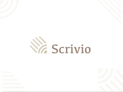 Scrivio Logo Concept draw write pen pencil logo concept simple minimal clean modern icon sign branding brand mark design