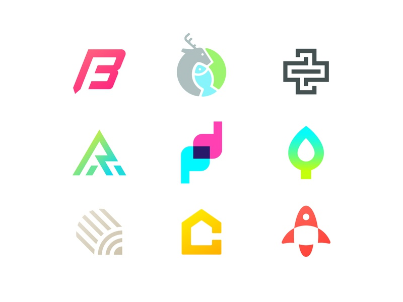 Best 9 logos of 2018 shots nine top 9 clean logofolio icon year 2018 best concept gradient timeless bold simple modern set collection mark logo letter
