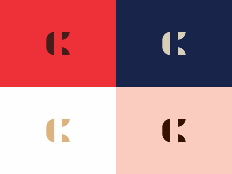 CK monogram k c letter abstract concept simple minimal clean modern icon sign branding brand mark design logo negative space negative monogram ck
