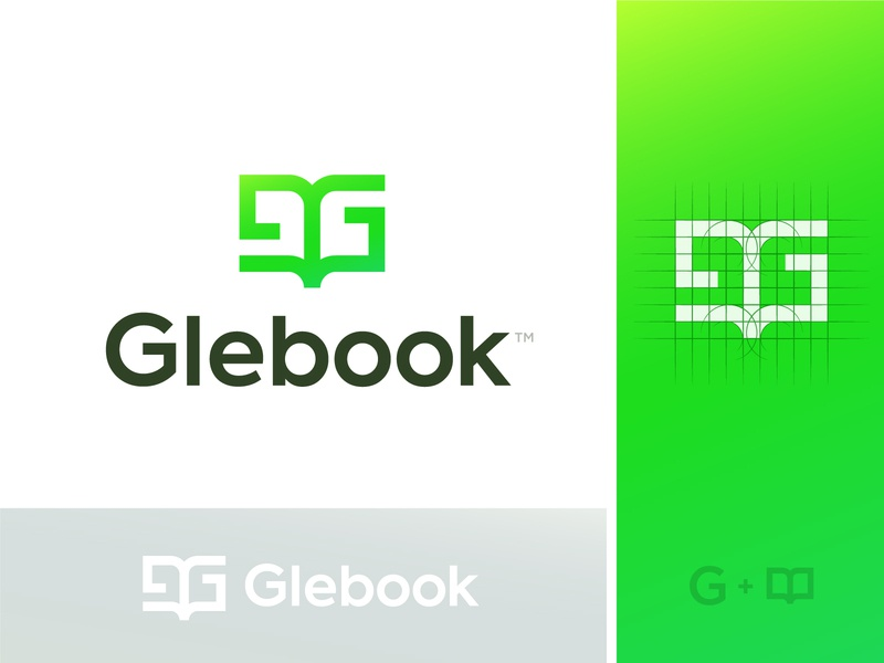 Book Logo Concept book logo wordmark logotype green g book smart minimal mark logo letter icon brand