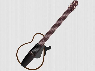 Yamaha silent guitar uuimd imd graphic illustrator icons guitar