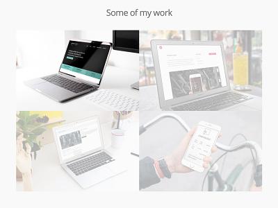 Web Designers Portfolio minimal mockup ux ui clean simple web designer animation effect hover image portfolio