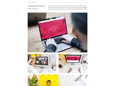 Portfolio - Work Showcase wordpress typography mockups clean website web design ux ui minimal showcase portfolio