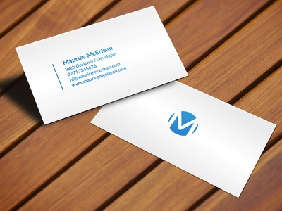 Business Card simple minimalist branding logo designer web mockup design card business