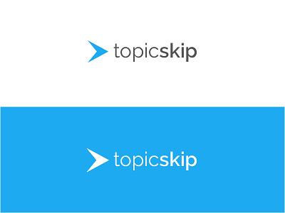 Topic Skip Logo minimal simple project sketch video identity branding design logo