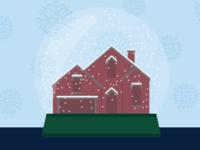 Schottenstein Homes | Snowglobe Illustration