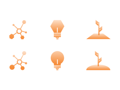 Connect, Learn, Thrive | Concept Icons