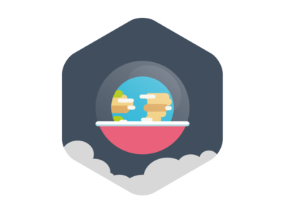Curious Pod world curious pod icon illustration earth space smoke