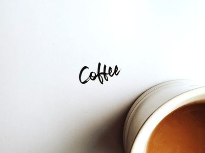Coffee font typography type hand writing hand letter art lettering calligraphy coffee
