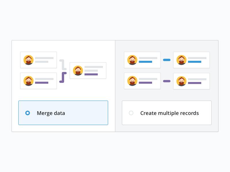 Import - Duplicated data multiple merge illustration duplicated pipedrive import