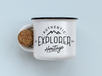 Authentic Explorer Heritage - Enamel Mug