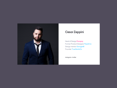 Cesar's Boring Website garage48 truegentsco pipedrive pocopay business card design boring portfolio cesar website