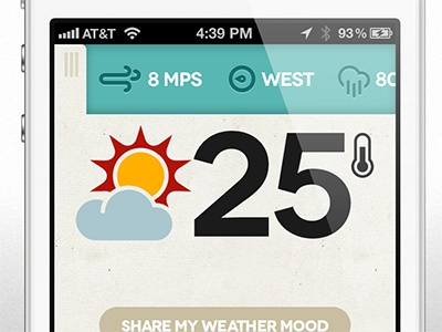 Dribbble weather app mobile details