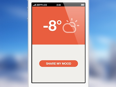 Mooday - New Design flat temperature thermometer mooday weather forecast degrees tallinn app ios web mood share climacons mobile