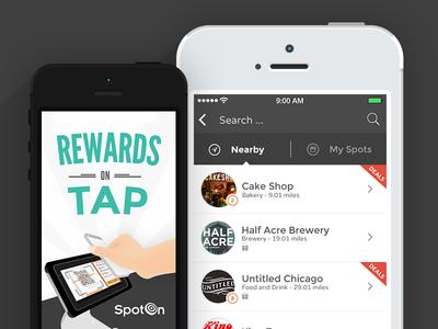 Spoton iOS7 App Redesign ios7 app ui spoton