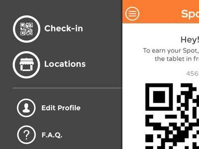 Mobile Nav - SpotOn ios7 app ui mobile ui mobile menu mobile nav iphone app spoton