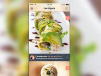 recipe feed ui iOS7