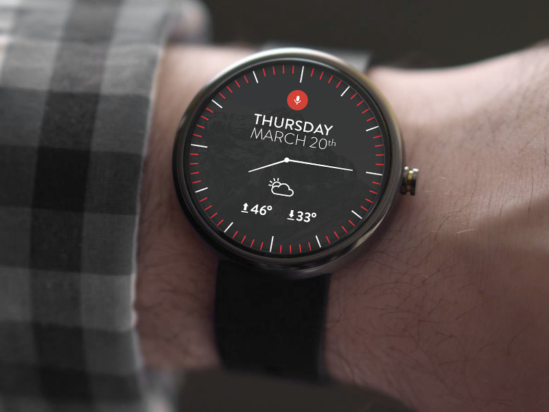Simple Android Wear UI android android wear smartwatch google ui design