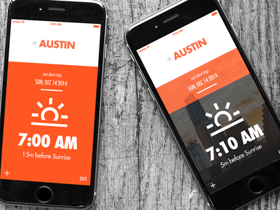 Sunrise Alarm 1 ios ui design visual design alarm app sunrise alarm mobile ui mobile app