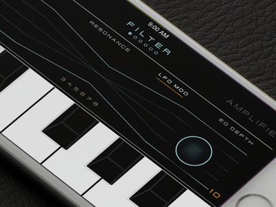 iOSynth preview ios keyboard piano touch synth music visual design interface design ui design