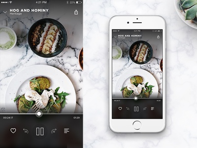 Tastemade iOS Player 2.9 mobile video food ui food player video ui video ios design video player