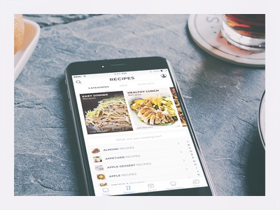 Recipe Categories  food search browse ui food app food ui categories lists mobile visual design ui ios