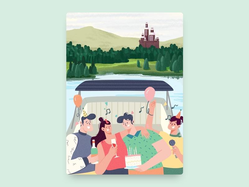 Let's party on board! design illustration illustrator illustrators