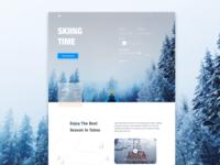 Lake Tahoe Landing Page Concept