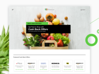Grocery homepage concept