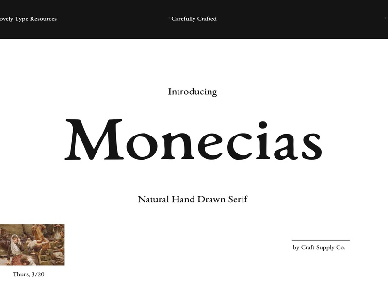 Monecias - Natural Hand Drawn Serif scandinavian style scandinavian irish europe vintage font logo creative lettering typeface