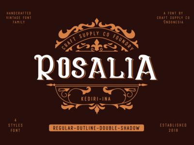 CS Rosalia - Vintage Font Family