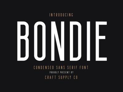 Bondie - Condensed Sans Serif