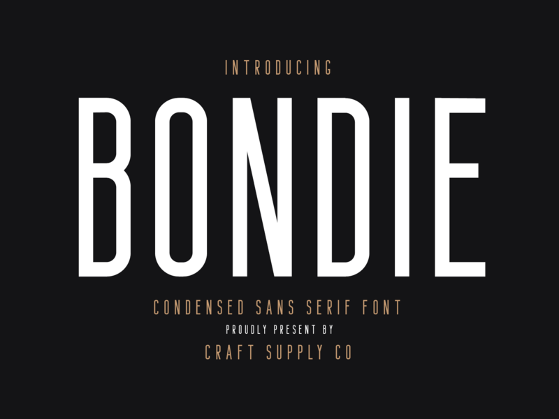 Bondie - Condensed Sans Serif luxury fashion script portland photography pastel europe clean vintage sans serif retro logo sans illustration creative elegant lettering brush typeface font