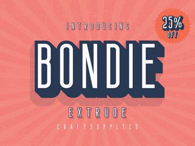 Bondie Extrude Font Family