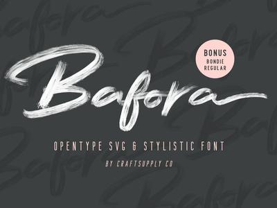 Bafora - Brush SVG Font
