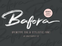 Bafora - Brush SVG Font
