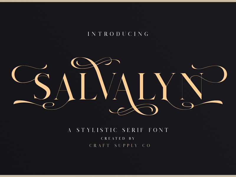 Salvalyn - Stylistic Serif Font typography luxury fashion script portland photography pastel europe clean vintage sans serif retro logo sans creative elegant lettering brush typeface font