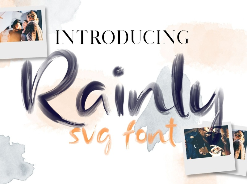 Rainly - Brush & SVG Font creative lettering brush typeface font