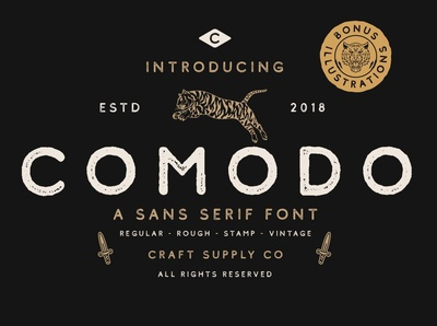 Comodo Font Family + Illustrations