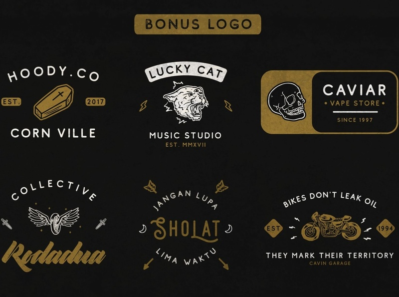 Bonus Logo - Comodo Font Family design branding creative vector illustration logo