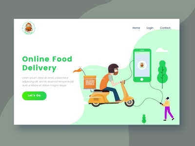 Food Delivery Landing Page 02