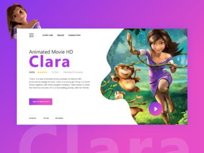 Clara Movie Banner Design
